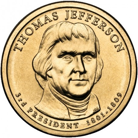 2007 USA $1 Thomas Jefferson D Mint Presidential Dollar Unc Coin