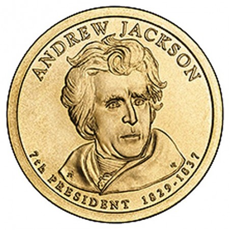 2008 USA $1 Andrew Jackson P Mint Presidential Dollar Unc Coin
