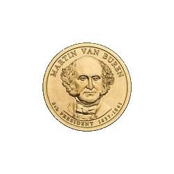 2008 USA $1 Martin Van Burden D Mint Presidential Dollar Unc Coin