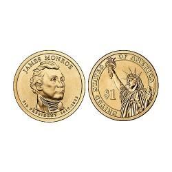 2008 USA $1 James Monroe P Mint Presidential Dollar Unc Coin