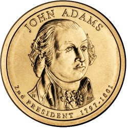 2008 USA $1 John Quincy Adams D Mint Presidential Dollar Unc Coin