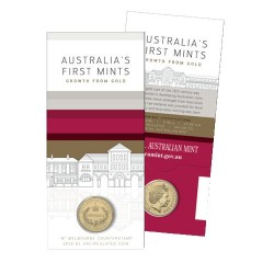 2016 $1 Australia's First Mints M Melbourne Counterstamp Unc Coin in Card