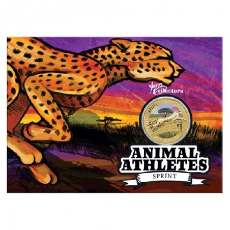 2012 $1 Young Collectors Animal Athletes - Cheetah Unc Coin in Card