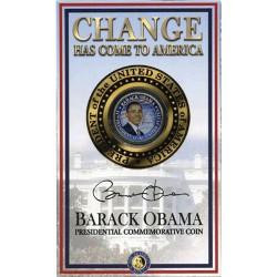 2008 USA Barack Obama JFK Half Dollar Coin in Card