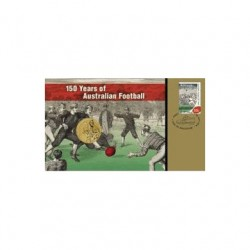 2008 $1 AFL 150 Years of Australian Football Coin & Stamp Cover PNC