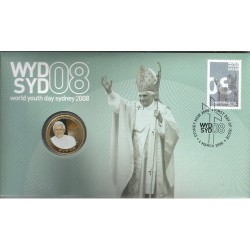 2008 $1 World Youth Day Coin & Stamp Cover PNC