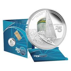 2008 $1 America's Cup 25th Anniversary Australia II 1oz Silver Proof Coin