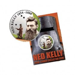 2004 50c Ned Kelly Coloured Proof Coin in Card