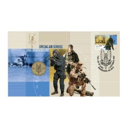 2007 $1 SAS Australian Special Air Services 50th Anniversary Coin & Stamp Cover PNC