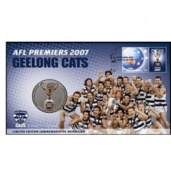 2007 AFL Premiers Geelong Cats Limited Edition  Stamp & Medallion Cover PNC