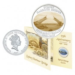 2007 50c Sydney Harbour Bridge 75th Anniversary Proof-Like Lenticular Coin in Card