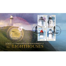 2015 $1 100 Years of Commonwealth Management of Lighthouses Perth Mint Coin & Stamp Cover PNC