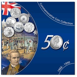 1966 - 1990 50c Commemorative Coin Collection EF-aUnc