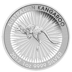 2017 $1 Australian Kangaroo 1oz Silver Bullion Coin