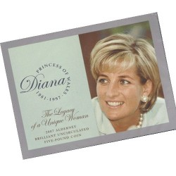 2007 Alderney £5 Diana - Legacy of a Unique Woman BU