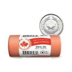 2006 Canada 25c Bravery Mint Roll