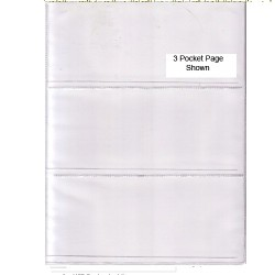 Banknote Pages 3 Pocket Each