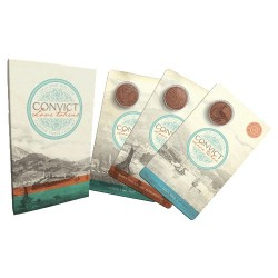2016 $1 Convict Love Tokens Copper Uncirculated Three-Coin Set
