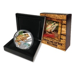 2017 $1 Endangered & Extinct Series - Green & Golden Bell Frog 1oz Silver Proof Coin