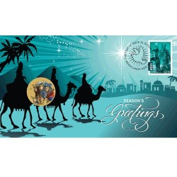 2016 $1 Christmas Coin & Stamp Cover PNC