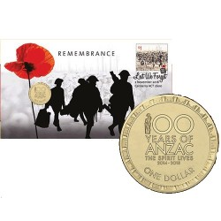 2016 $1 Remembrance Day Coin & Stamp Cover PNC