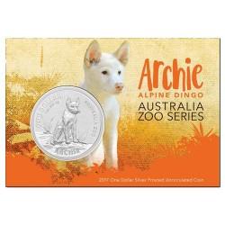 2017 $1 Archie The Dingo Australia Zoo 1oz Silver Frunc Coin in Card