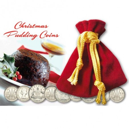Christmas Pudding Pack of 9 Coins
