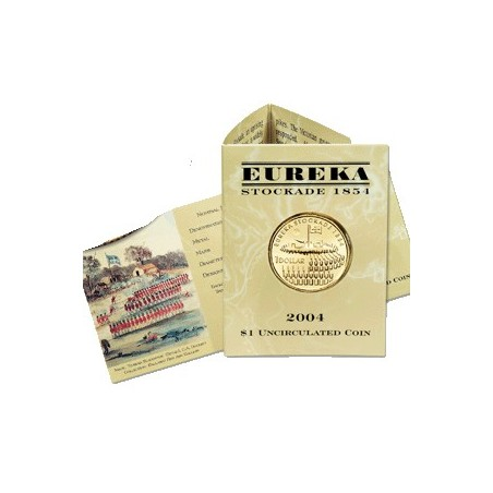 2004 $1 150th Anniversary Eureka Stockade S Mintmark Unc Coin in Card