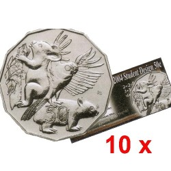 2004 50c Student Design Uncirculated Coin in Pack of 10
