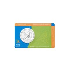 2006 50c Commonwealth Games - Hockey Uncirculated Coin in RAM Card