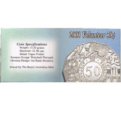 2003 50c Australia's Volunteers Uncirculated Coin in Pack