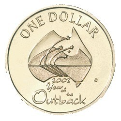 2002 $1 Year of the Outback No Mintmark Uncirculated Coin