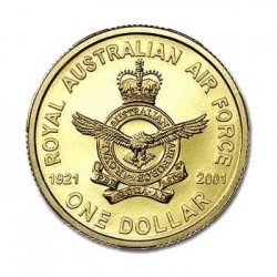 2001 $1 80th Anniversary of the Royal Australian Air Force Uncirculated Coin in Card