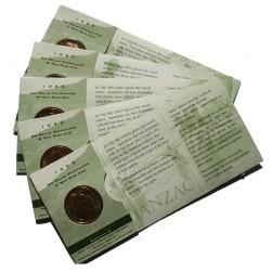1999 $1 The Last Anzacs Set of 5 Mintmarks A C S M B