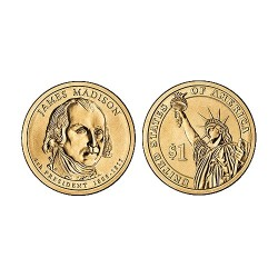 2007 USA $1 James Madison D Mint Presidential Dollar Unc Coin