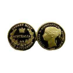 1855 Replica Sydney Mint Sovereign in Capsule