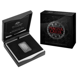2015 $5 800th Anniversary of the Magna Carta Fine Silver Antique Rectangular Coin