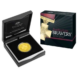 2015 $5 Australian Bravey Gold Plated Silver Frosted Uncirculated Coin