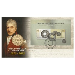 2013 $1 Bicentenary of the Holey Dollar & Dump Coin & Stamp Cover PNC