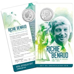 2017 50c Richie Benaud - The Voice of Cricket 1930 - 2015 Uncirculated Coin in Card