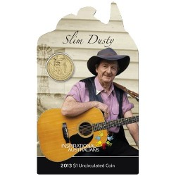 2013 $1 Inspirational Australians Slim Dusty Uncirculated Coin in Card