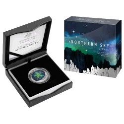 2016 $5 Northern Sky - Cygnus Silver Proof Colour Printed Domed Coin