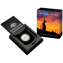 2014 $1 Kangaroo at Sunset 1/5oz Silver Proof Coin