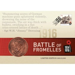 2016 Battle of Fromelles Limited Edition Medallion Cover