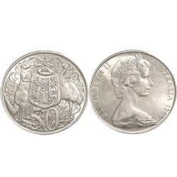 1966 50c Silver Round 50c EF+