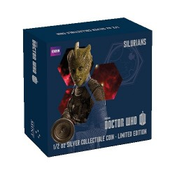 2014 $1 Dr Who Monsters - Silurians 1/2oz Silver Coin