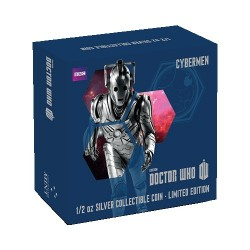 2014 $1 Dr Who Monsters - Cybermen 1/2oz Silver Coin
