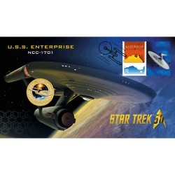 2016 $1 Star Trek USS Enterprise NCC-1701 Coin & Stamp Cover PNC