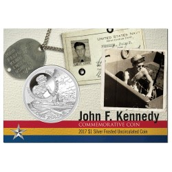 2017 $1 JFK 100th Anniversary 1oz Silver Frunc Coin in Card