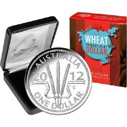 2012 $1 Wheat Sheaf C Mintmark Silver Proof Coin